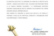 SALUDOS DE CONDOLENCIAS